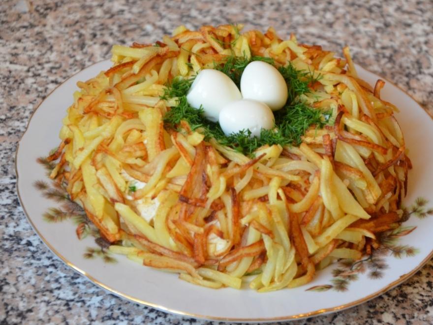 реке салат глухариное гнездо рецепт с фото пошагово должны отличать